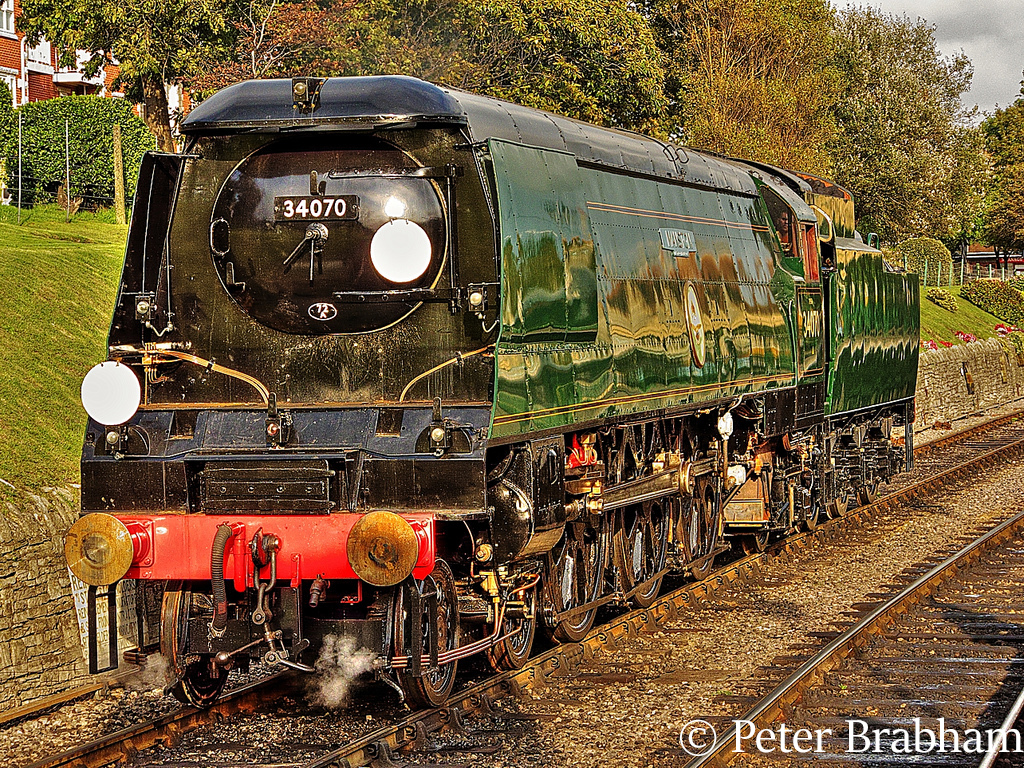 This image has an empty alt attribute; its file name is 34070-manston-at-swanage-september-2008.jpg