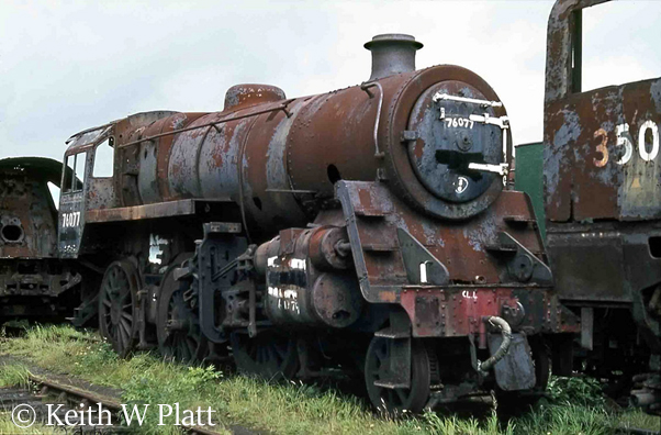 This image has an empty alt attribute; its file name is 76077-in-woodhams-scrapyard-at-barry-august-1980.jpg