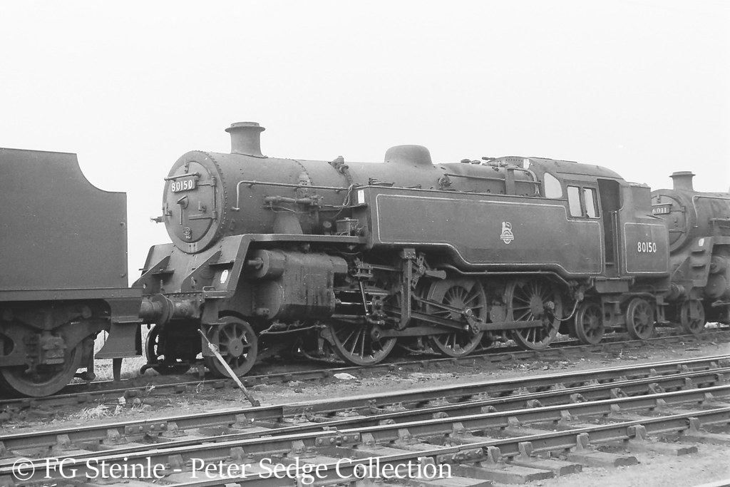 This image has an empty alt attribute; its file name is 80150-on-eastleigh-shed-august-1962.jpg