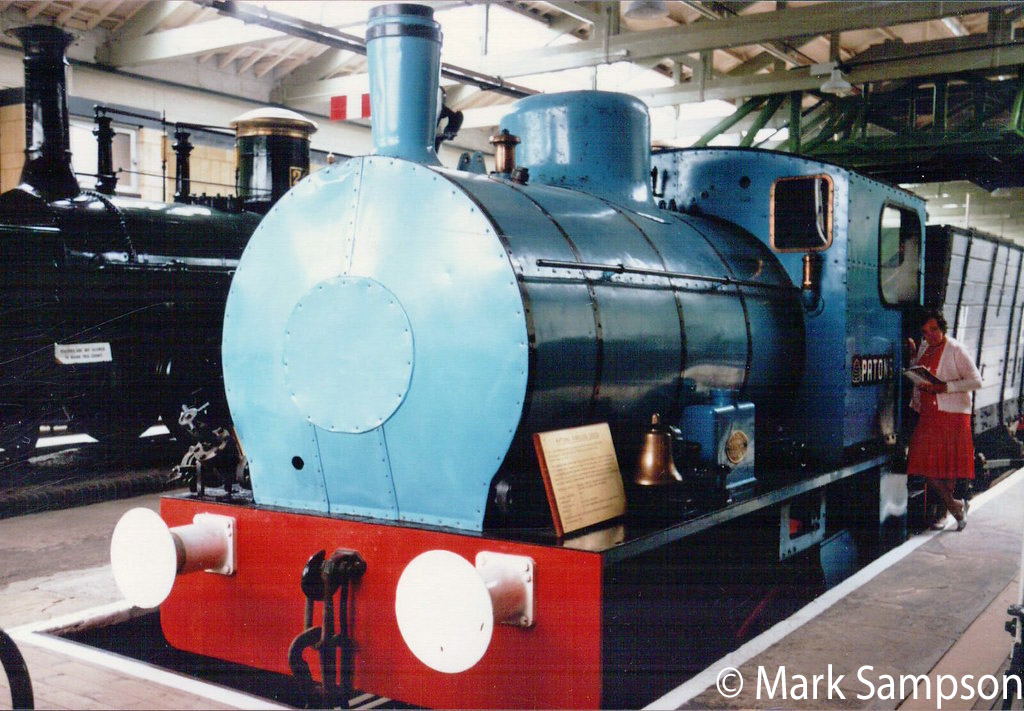 This image has an empty alt attribute; its file name is bagnall-2898-in-the-darlington-railway-museum-july-1989.jpg